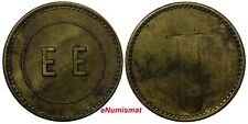 "Costa Rica Token Countermark "" EE"" E.ESQUIVEL and Large ""U"" 20mm Rulau-CR19"