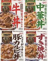 Glico, Donburitei Series, Beef Bowl, Sukiyaki, Pork, Retort, Japan