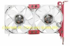 PcCooler V8 Dual 3 Pin 9CM Red LED PC Cooling Fans with PCI Slot Backplate