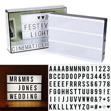 A4 Light Up Letter Box Cinematic Led Sign Wedding Party Cinema Plaque Shop 5V