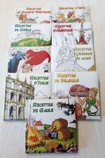 Recettes Asterix - 9 petits livres l'odyssée gourmande - 2013