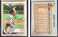 Geoff Zahn Signed 1983 Topps #547 Card California Angels Auto Autograph