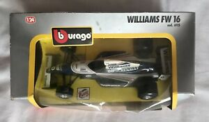 Vintage Burago 1/24 Scale Williams FW 16 Cod 6115 Formula 1 Grand Prix Model Car