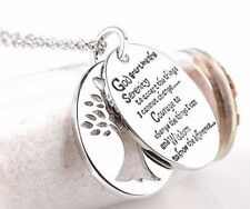 Serenity Prayer Tree of Life 2 piece Alloy Necklace Pendant Inspiration 18-20 in