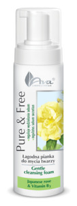AVA Pure & Free łagodna pianka do mycia twarzy/ cleansing foam