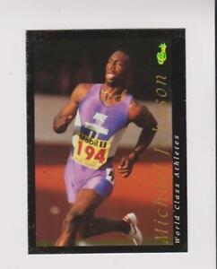 1992 Classic World Class Athletes #15 Michael Johnson card, low grade