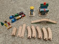 Thomas the Train Wooden Railroad Lot: Trains, Tracks & Accessories - Great Set!