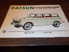 1960s Datsun Bluebird Station Wagon Sales Brochure