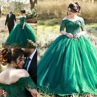 Lace Appliques Off Shoulder Quinceanera Prom Dresses Formal Evening Party Gown