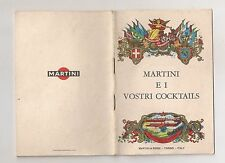 Opuscolo Libretto Pubblicitario MARTINI e i vostri Cocktails Anni 60
