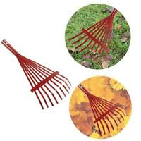 Nine Tooth Adjustable Hoe Garden Grass Leaf Rake Folding Cleaning Kits Tool Y4L1