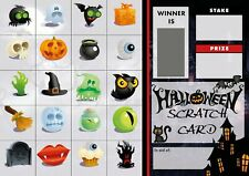 More details for halloween scratch cards  20 pictures - fundraising - football