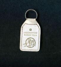 Vintage Lullingstone Roman Villa Leather Keyring