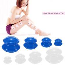 Анти целлюлит Кубок вакуумный банок силиконовый семья для лица тела массаж 4x