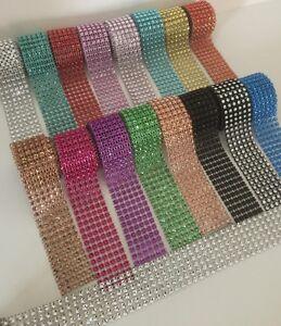 BLING Ribbon 1M Crystal Diamante Sparkly Rhinestone EFFECT Mesh Trim CARD CRAFT