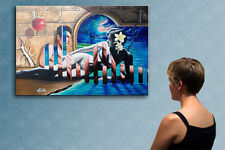"""51"""" COUPLE IN LOVE  - original surrealist painting oil on canvas by Michael A."""