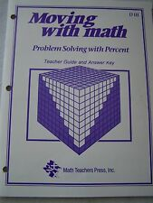 Moving with Math D3 Problem Solving with Percent Teacher Guide & Answer Key