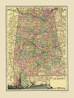 Alabama - Cram 1909 - 23.00 x 30.45