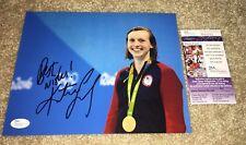 KATIE LEDECKY SIGNED 8X10 PHOTO USA SWIMMING US 2016 RIO OLYMPICS GOLD JSA