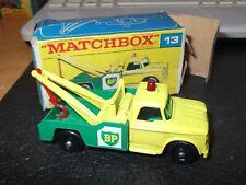 VINTAGE MATCHBOX BP DODGE WRECK TRUCK 13 superb condition fair BOX