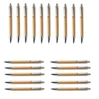 10pcs Ballpoint Pen Biros Refills Writing Tools Part w//Bamboo Ballpoint Pen