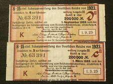 🍁 1923 Germany Berlin 100000 Mark Treasury Bond Schatzanweisung #4055