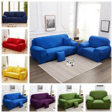 New Pure Color Sofa Cover 1/2/3/4 Seater Stretch Protector Slipcover Couch Cover