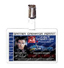 Blade Runner Spinner Operator Permit Rick Deckard ID Badge cosplay Comic Con
