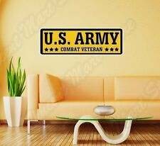 "US Army Combat Veteran Soldier Wall Sticker Room Interior Decor 25""X8"""