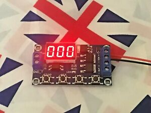 DC 12V 24V Dual MOS, Multi function Delay Relay Trigger Cycle Delay Switch Timer