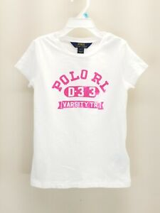 *NWT*Polo Ralph Lauren Kids girl 5-6X Graphic Cotton Tee