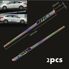 2x Racing Long Stripe Graphics Sticker Car Body Side Door Vinyl Decals Trim