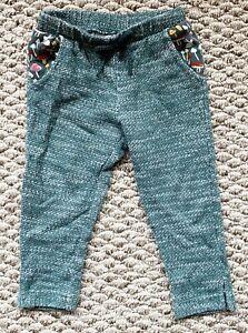 Genuine Kids Baby Girl's Elastic Waist Green Pull On Pants Size: 18M