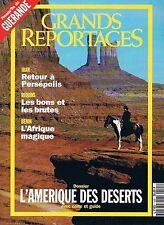 Grands Reportages - N°125 - Juin 1992 - L'amerique des deserts