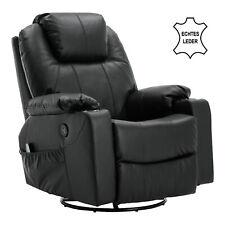 MCombo Massagesessel Relaxsessel Dreh+Schaukel manuell verstellbar Echtleder7050