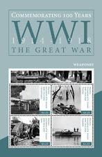 saint vincent MAYREAU ca 2014 World War I Tanks trenches flamethrowers ms4v mnh