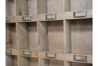 Wall Unit Shelf Storage Cupboard Cabinet 12 Pigeon Hole Vintage Wooden Style