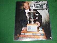 Boston Bruins Claude Julien Autographed 8x10 Trophy Presentation