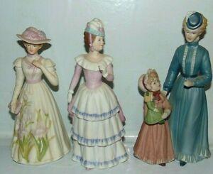 Homco Colonial Ladies Porcelain Figurines