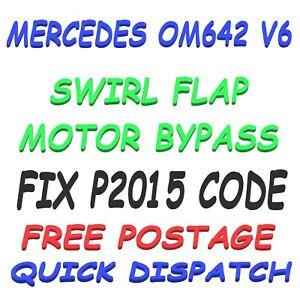 Mercedes Chrysler Jeep Om642 V6 Swirl Flap Motor Bypass **FIX P2015 FAULT CODE**