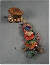 Original DAMARU AUS TIBET, Schädeltrommel, Ritualie, Geschnitzt, Nepal [C26224]