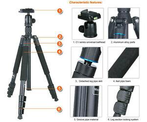 UK Store! CameraPlus® CP-256 Tripod + CV-0 Ballhead SET - light weight 1.49KG