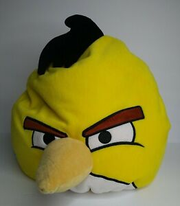 "Angry Birds Yellow Chuck Bean Bag Plush Pillow 12"" Stuffed Animal Toy No Tag"