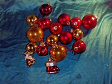 Konvolut alter Christbaumschmuck Glas Weihnachtskugeln Stiefel Katze rot gold