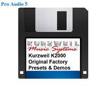 Kurzweil K2000 Original factory Presets and Demos Floppy Disk