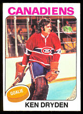 1975-76 TOPPS 35 KEN DRYDEN EX-NM MONTREAL CANADIENS HOCKEY WITH FRE SHIP TO USA