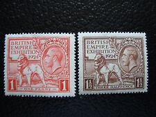 ROYAUME-UNI - timbre yvert/tellier n° 171 172 n** (A8) stamp united kingdom