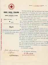 1934 DOCUMENTO CROCE ROSSA ITALIANA COMITATO DI SAVONA GIORNATA DUE CROCI 6-212