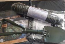 Pelle Américaine + Bâche camouflage 6m2+ Poncho + Corde Army 20m 135 kilos