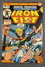 Marvel Premiere 15🔥 1st App. Iron Fist!White Pages W/ Value Stamp High Grade 🔥